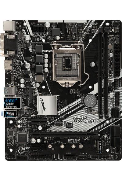 ASRock B365M-HDV Intel B365 2666MHz DDR4 Socket 1151 mATX Anakart ASRB365M-HDV