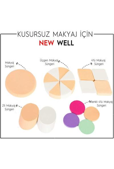 New Well Renkli 4'lü Makyaj Süngeri