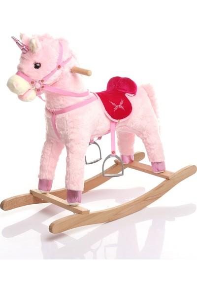 Baby Toys Boynuzlu Sallanan At Pembe
