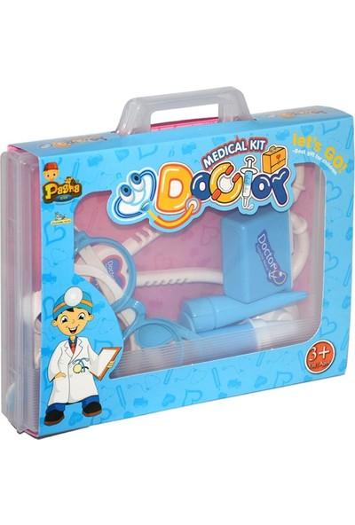 Pasha Kids Çantalı Doktor Seti - Mavi