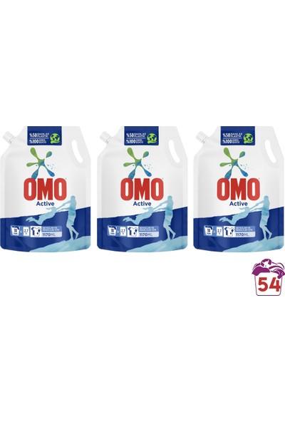 Omo Active Sıvı Deterjan Çevre Dostu Paket 1170 ml 3 Adet