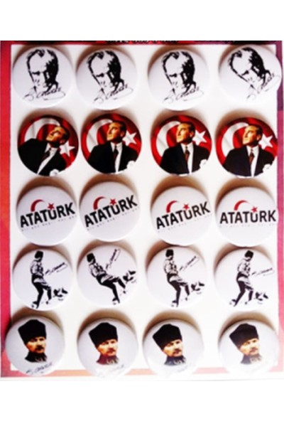 Hediye Panayırı Seri 2 Atatürk Rozetleri 20'li