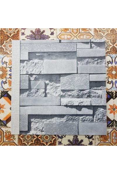 Golden Taş Desenli 3 Boyutlu 13153 Duvar Kağıdı (5m²) - Tutkal Hediyeli
