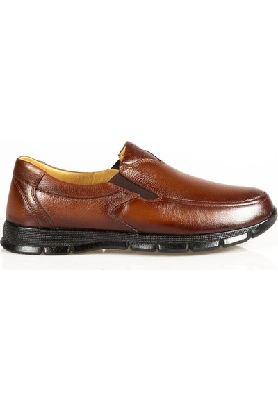 Ayakkabı Çarşı Günlük Ortapedik Taba Hakiki Deri