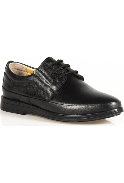 Ayakkabı Çarşı Günlük Ortapedik Siyah Hakiki Dei Erkek