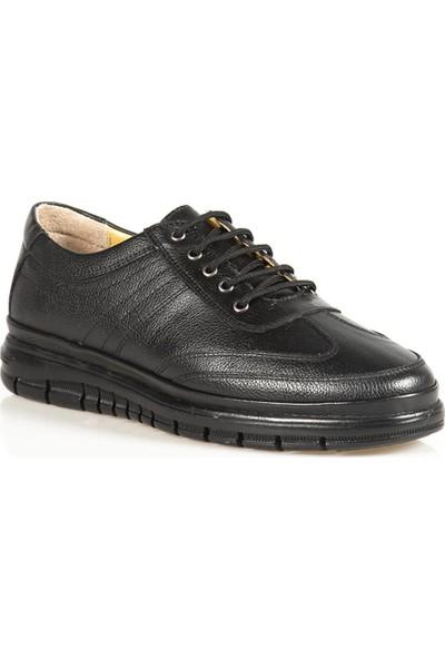 Ayakkabı Çarşı Günlük Ortapedik Sİyah Hakiki Deri Erkek Ayakkabı MRTT247