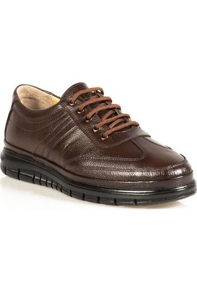 Ayakkabı Çarşı Günlük Bağcıklı Ortapedik Hakiki Deri