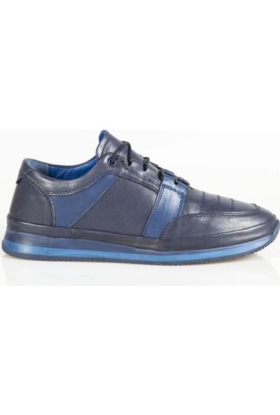 Ayakkabı Çarşı Günlük Lacivert Hakiki Deri