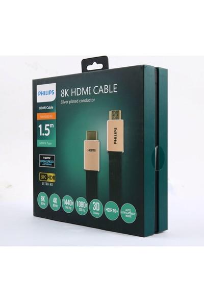 Philips SWV8100 HDMI To HDMI Altın Uçlu 8k Ultra Hd Kablo 1.5 mt