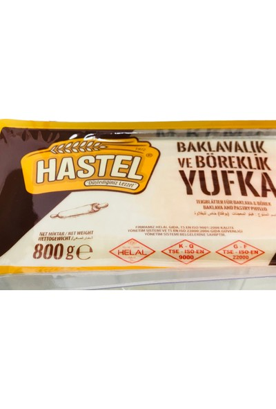 Hastel Baklavalık Yufka 800 gr x 2 Paket
