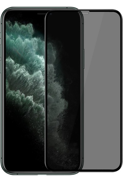 InovaXis Subway Apple iPhone XS Max / iPhone 11 Pro Max Privacy Hayalet Cam Ekran Koruyucu Siyah