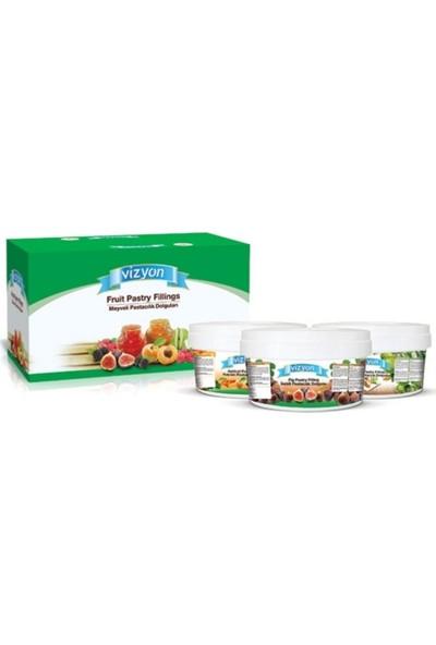 Vizyon Meyve Parçacıklı Dolgu Kreması Vişneli 6 kg