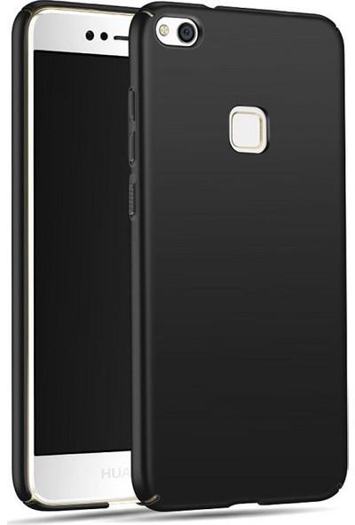 Engo Huawei P9 Lite 2017 Silikon Mat Dokulu Arka Kapak Siyah
