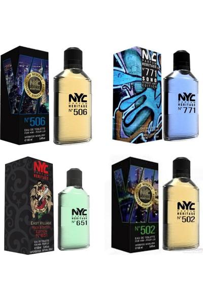 Nyc Park & Soho Edition For Him 100 ml 4'lü Kadın Parfüm Seti