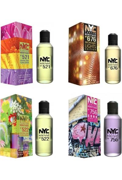 Nyc Central & Soho Edition For Her 100 ml 4'lü Kadın Parfüm Seti