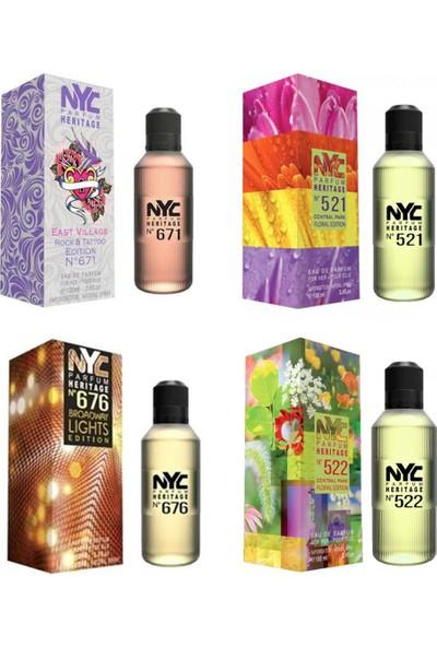 Nyc Central & East Edition For Her 100 ml 4'lü Kadın Parfüm Seti