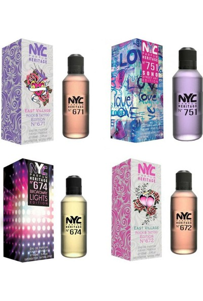 Nyc East & Street Edition For Her 100 ml 4'lü KadınParfüm Seti