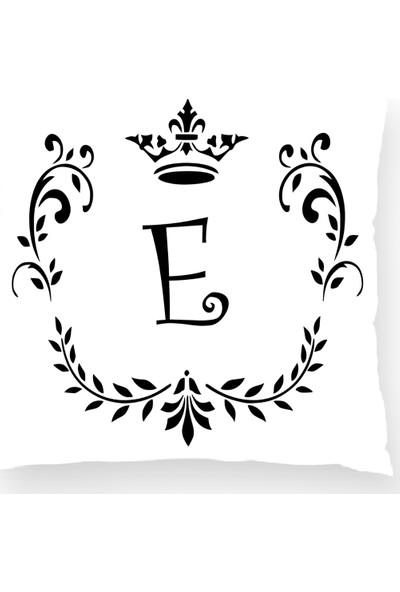 Bk Home Dekor Harf Kırlent Beyaz E Kırlent Kılıfı