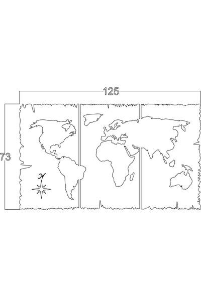 Mingitav World Map Duvar Dekoru