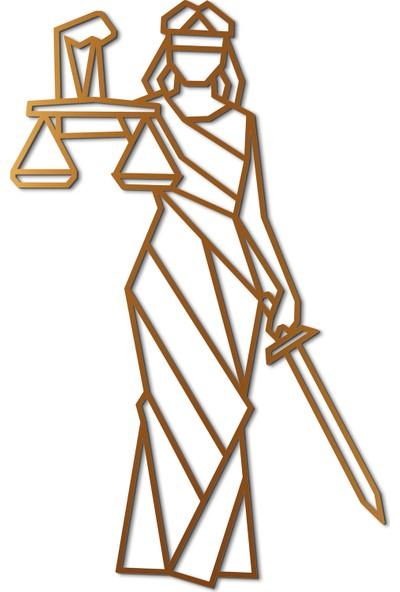 Mingitav Justice Lady Duvar Dekoru