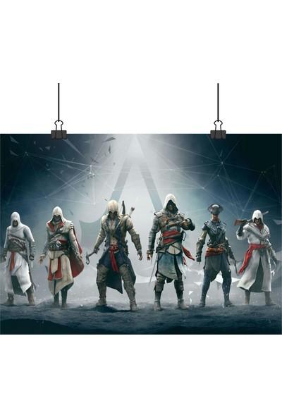 Assassins Creed Ac 4e Kadar Tüm Süikastçiler Bir Arada Oyun 33 x 48 cm Posteri