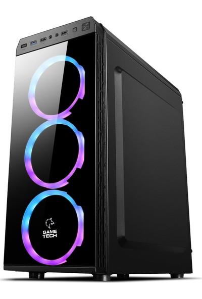 GameTech GT-001 4x120mm Fanlı Tempered Pencereli Oyuncu Bilgisayar Kasası