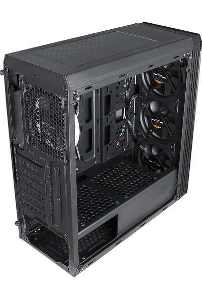 GameTech GT-01 Zeus 4x20mm Kumandalı RGB Fanlı Tempered Pencereli Oyuncu Bilgisayar Kasası