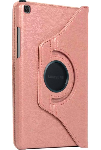 "Microsonic Samsung Galaxy Tab A 8"" 2019 T290 Kılıf 360 Rotating Stand Deri Rose Gold"
