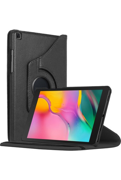 "Microsonic Samsung Galaxy Tab A 8"" 2019 T290 Kılıf 360 Rotating Stand Deri Siyah"