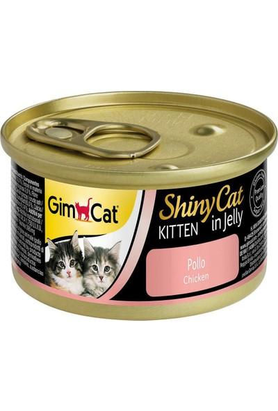 Gimcat Shinycat Yavru Tavuklu Kedi Konservesi 70 gr 12 Adet