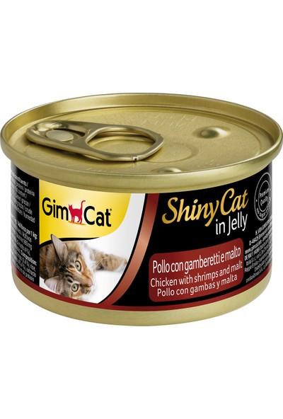 Gimcat Shinycat Tavuk Karides Malt Özlü Kedi Konservesi 70 gr 10 Adet