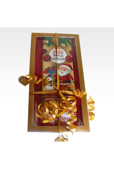 Tonti Ponti Kişiye Özel Baton ve Madlen Yılbaşı Çikolata Kutusu