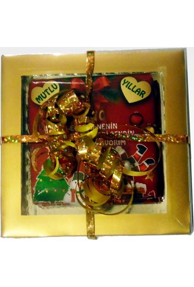 Tonti Ponti Kişiye Özel 2'li Kırmızı Yılbaşı Çikolatası