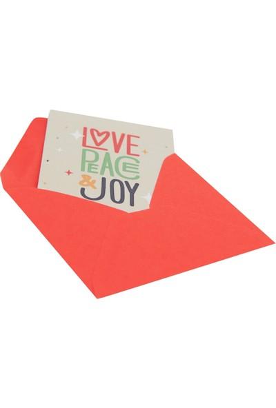 Love Peace Joy Sembollü Hediye Kartı - Sihirli Semboller