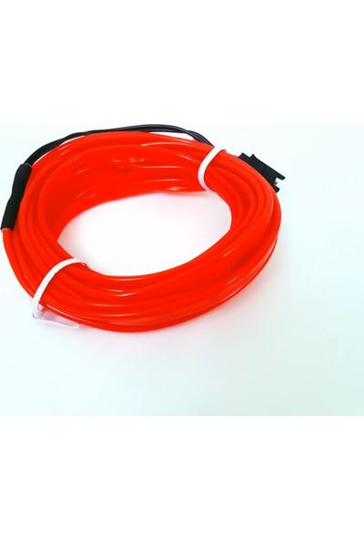 FEMEX 3Metre İp Neon Led Fitili Turuncu-Kumandalı 3 Modlu Pilli