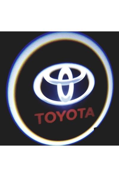 FEMEX Toyota Araçlar İçin Pilli Yapıştırmalı Kapı Altı Led Logo