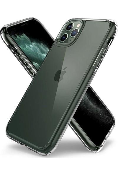 Toucan Apple iPhone 11 Pro Max Kılıf Crystal Sert Silikon 4 Tarafı Tam Koruma - Şeffaf