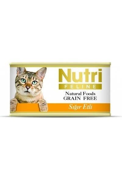 Nutri Feline Konserve Sığır Etli Kıyılmış Yetişkin Kedi Maması 85 gr x 6 Adet