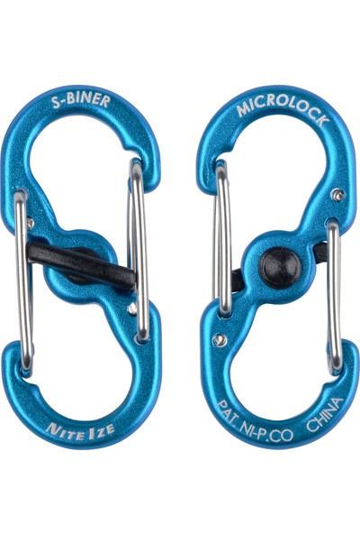 Niteize Nite Ize S-Biner Microlock Alüminyum Karabiner 2li Paket - Mavi