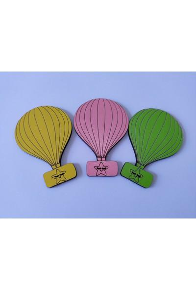 Elizi Renkli Ahşap Balon Figürlü Süsleme Malzemesi