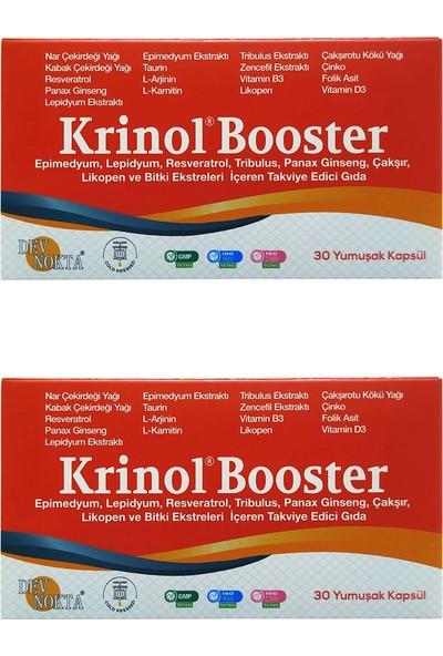 Krinol Booster - Epimedyum, Lepidyum, Resveratrol ve Likopen - 30 Kapsül - 2 Kutu