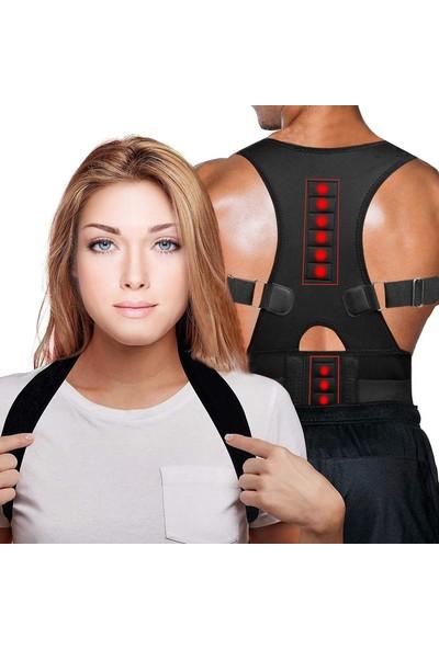 Ankaflex Kadın Erkek Dik Durus Korsesi Bel Sırt Omuz Korsesi -Siyah