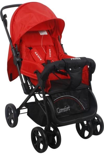 Prava P06 Comfort Çift Yönlü Bebek Arabası Kırmızı