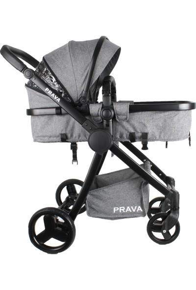Prava P14 Black Travel Sistem Bebek Arabası Gri