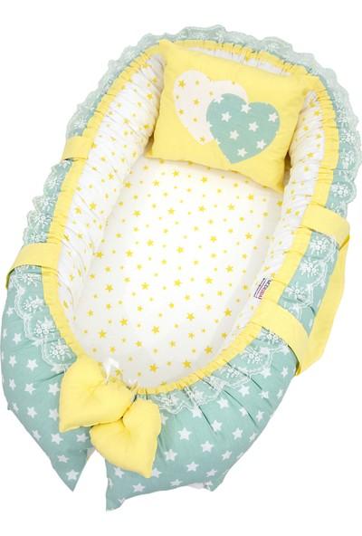 Modastra Babynest Mint ve Sarı Tasarım Baby Nest
