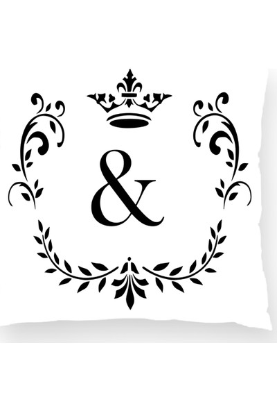 Bk Home Dekor Harf Kırlent Beyaz & Kırlent Kılıfı