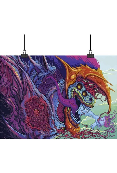 13 Poster Hyperbeast Cs Go Oyun Skini Canavar Deseni 33 x 48 cm Posteri