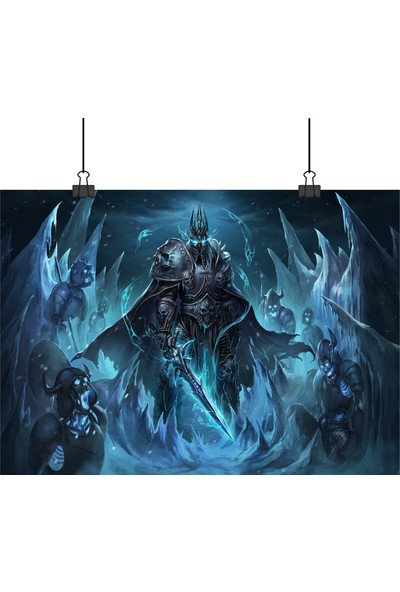13 Poster World Of Warcraft Wow Oyunu Arthas Lich King Uzaktan 70 x 100 cm Posteri