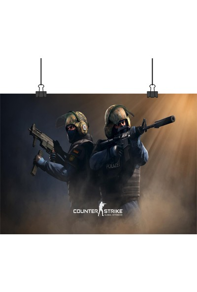13 Poster Counter Strike Global Offensive Cs Go Oyunu Anti Terör Polis Tarafı 33 x 48 cm Posteri