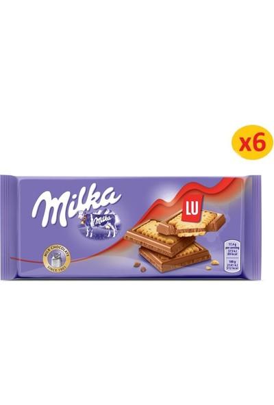 Milka Petit Lu Tablet Çikolata 87 gr - 6 Adet